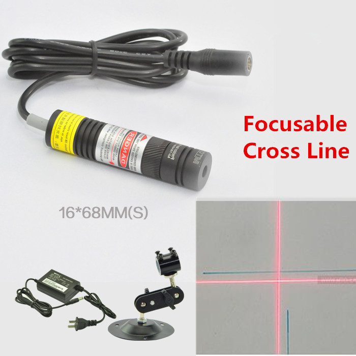 ФОТО Focusable 650nm  10mw 50mw 100mw 150mw 200mw Laser Cross  Line Module for Clothes Cutting / Wood Cutting Mechanical Positioning