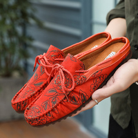 Summer Shoes Men 2018 Breathable Half Slippers Blue Red Loafers Men Walking Shoes Fasihon Mens Causal Loafers Sneakers