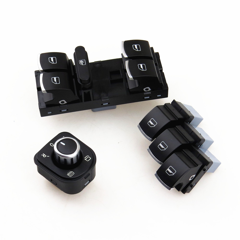 READXT Driver Side Window Control Switch Mirror Knob For Passat B6 Golf 5 MK5 6 MK6 TIGUAN CC RABBIT 5ND959857 5ND959565A
