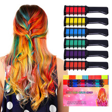 Temporary Hair Color Chalk Combs Kit Girls For Hair Multicolor Color Dye Hair Dye Comb Hair Care Styling Tools Hair Salon Dyeing цена в Москве и Питере