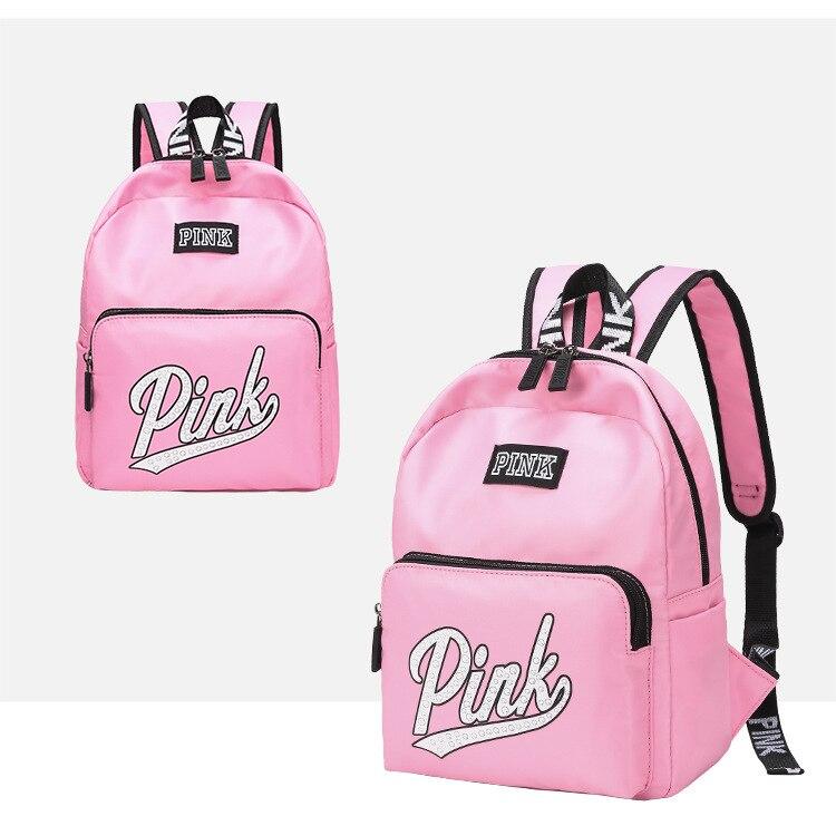 Large Capacity Love Bag Pink Stripe Duffle Bag Victoria Fit Beach Bag Secret Weekend Vs Backpack For Women 2019 Bolsa