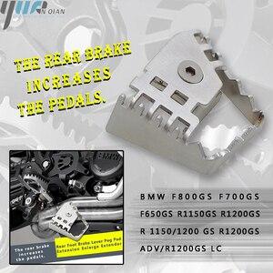 Image 2 - Para bmw f800gs r 1150/1200 gs r1200gs adv/r1200gs lc motocicleta pé traseiro alavanca do freio peda ampliar extensão tira