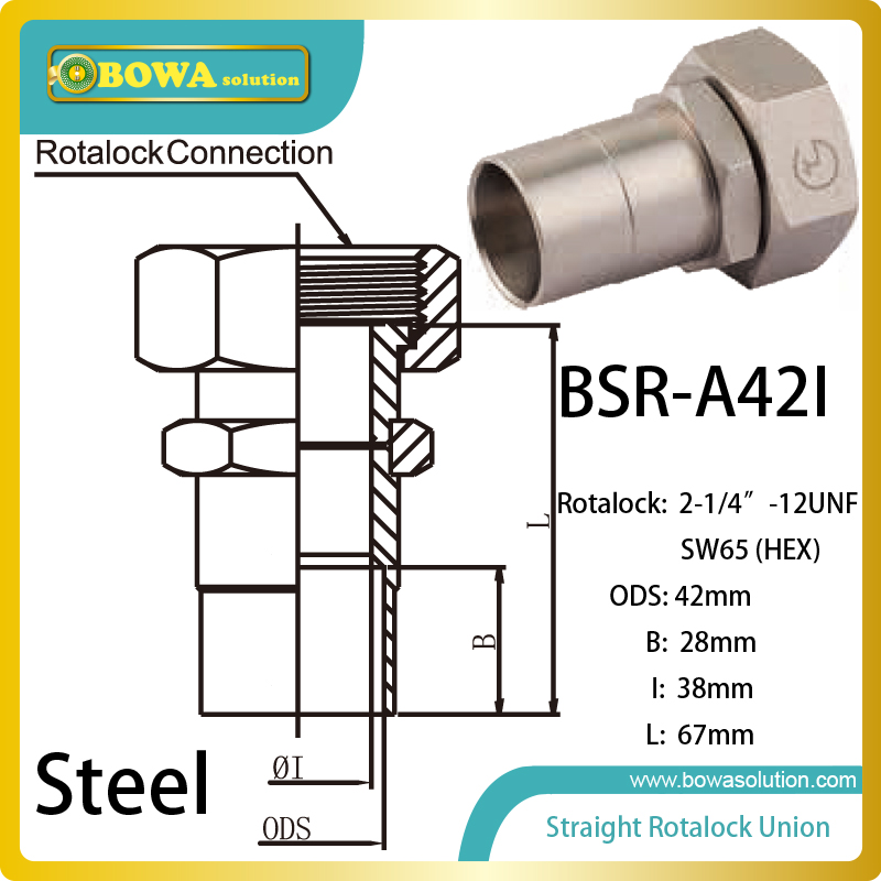 42mm ODS straight SW65 hex rotalock valve installed in steam water heater rice cooker parts steam pressure release valve
