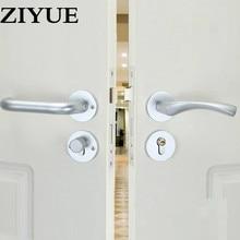 Lovely Free Shipping Simple Sand White Space Aluminum Interior Door Wooden Locker  Room Door Lock All