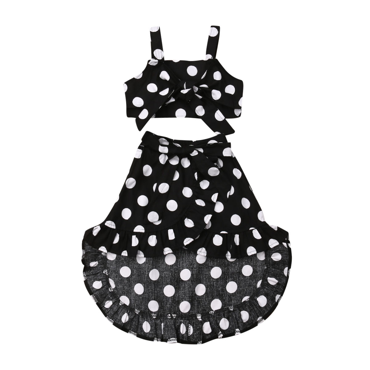 84ed99981536 Related Products. 2019 PUDCOCO Infant Baby Girl Suspender Dot Dress Braces  Dress+Tops Outfits Set