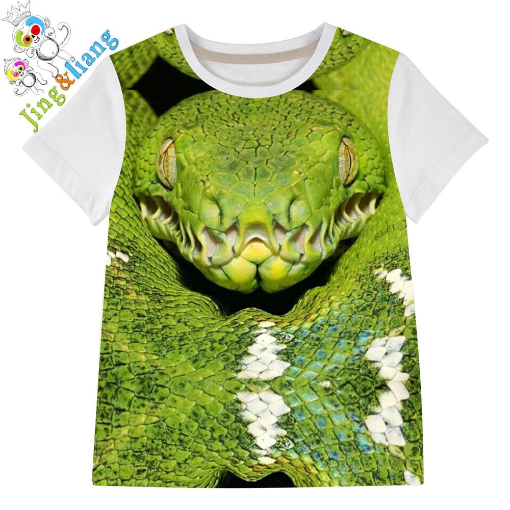 Shirt design for baby girl - Boy T Shirts Baby Girl Brand Shirts Kids T Shirt Baby Boy Kids Green Snake Design Short Sleeve Tops Quality Summer Samples