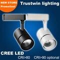 8 peças com cree led 50 w teto levou faixa holofotes 50 w led lâmpada light rail 85 para 265 V 50 W COB LEVOU luz pista 50 W