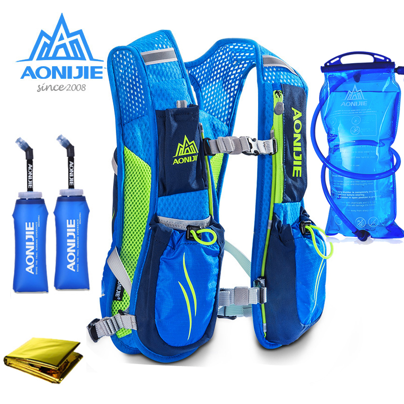 NEW AONIJIE Running Marathon Hydration Nylon 5.5L Outdoor Running Bags Hiking Backpack Vest Marathon Cycling Backpack