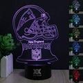 HUI YUAN Rugby tapa Visual 3D Led Luces de La Noche de niños Táctil USB Lampara de Mesa ya que Además de Lampe de Dormir Del Bebé Nightlig