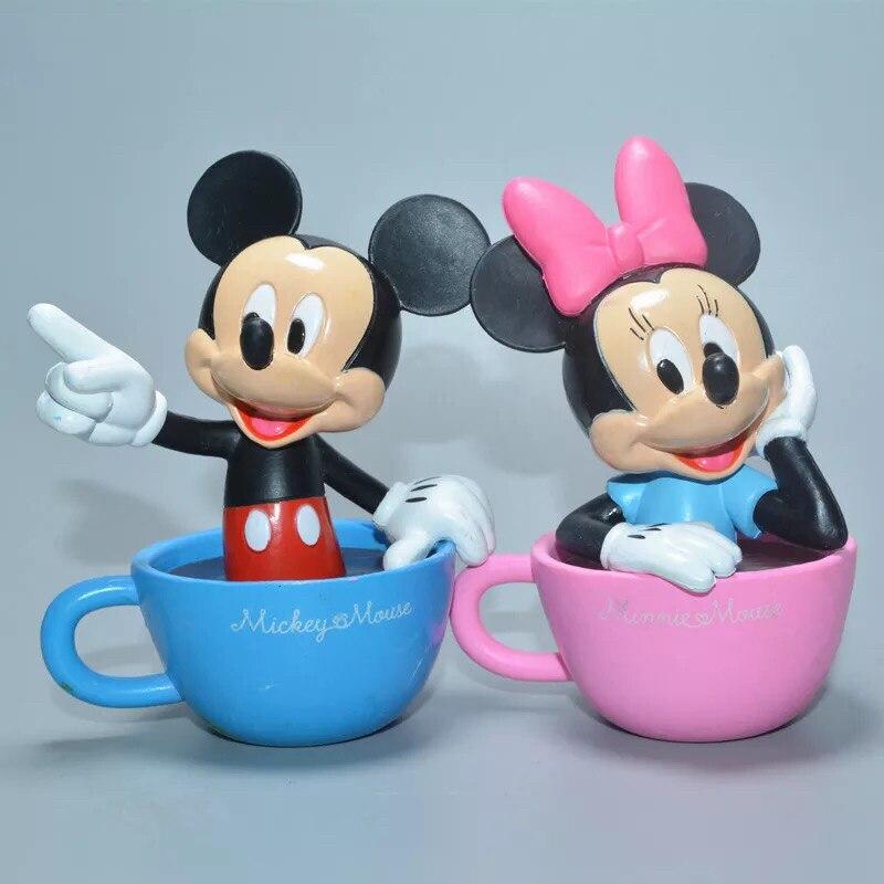 1pieces/lot 8cm Pvc Mini Mickey Daisy Goofy Carcoon Mouse Dog Doll Toys Doll Play House Christmas Gift Various Styles