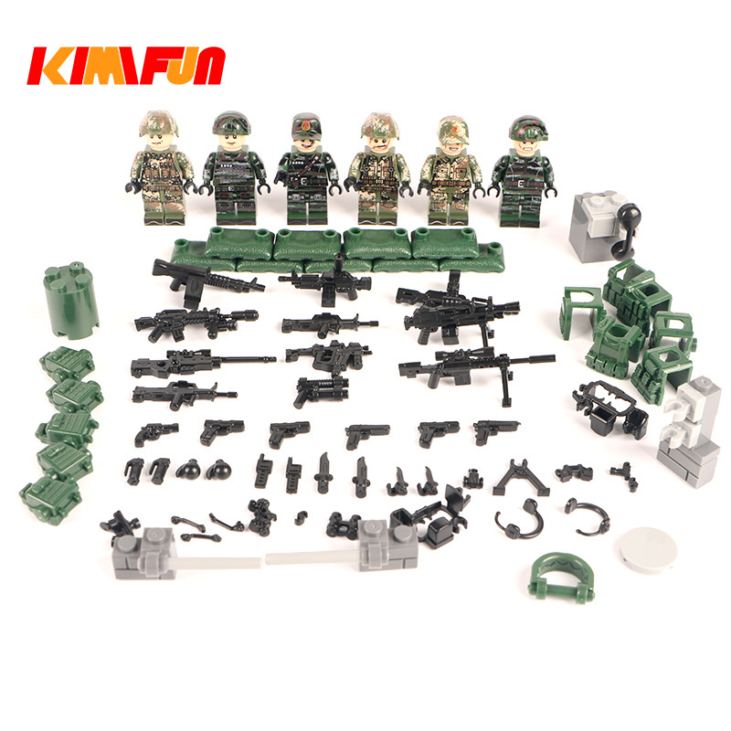 Weapon Pack Gun Navy Building Blocks Riot police Swat Team Soldier Accessory Figure Series Toys Legoings Army Simulation war ...