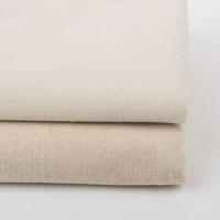 Linen Cotton Cloth Plain Coloured Linen Fabric Solid Color Coarse Linen Fabric For DIY Table Cloth
