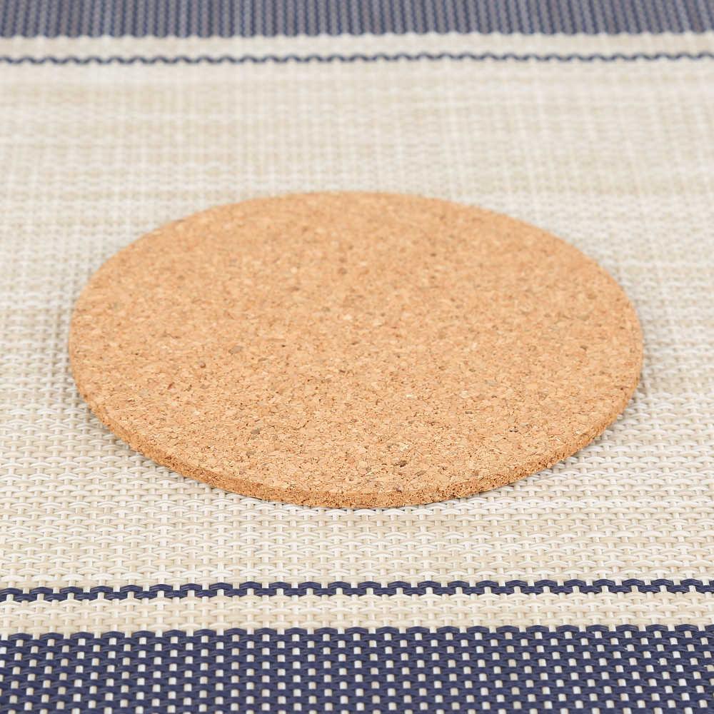 Mais novo 6 Pçs/lote Coaster Da Cortiça Natural Resistente Ao Calor Esteira do Copo Caneca de Café Chá Bebida Quente Posavasos Placemat Cozinha Decoração