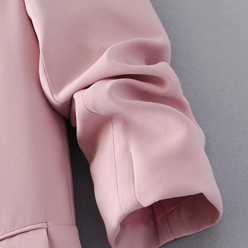 HTB1eK.Ja3nD8KJjy1Xdq6yZsVXa9 Jacket women elegant 5 color outerwear pocket office casual fashion jacket