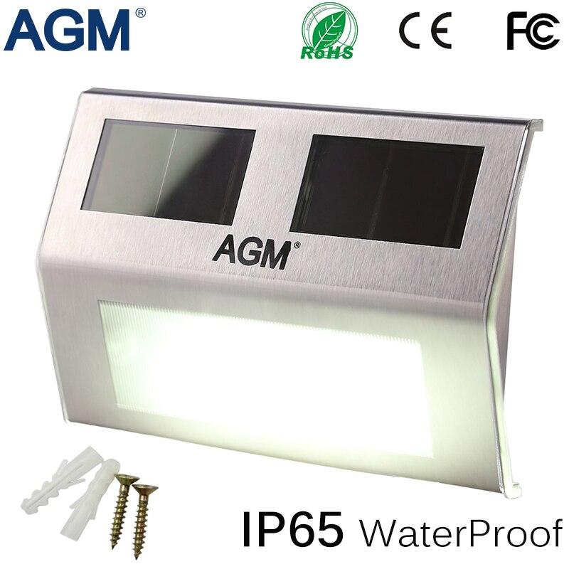 Agm led solar power light wall lamp waterproof luminaria for Luminarias de exterior led
