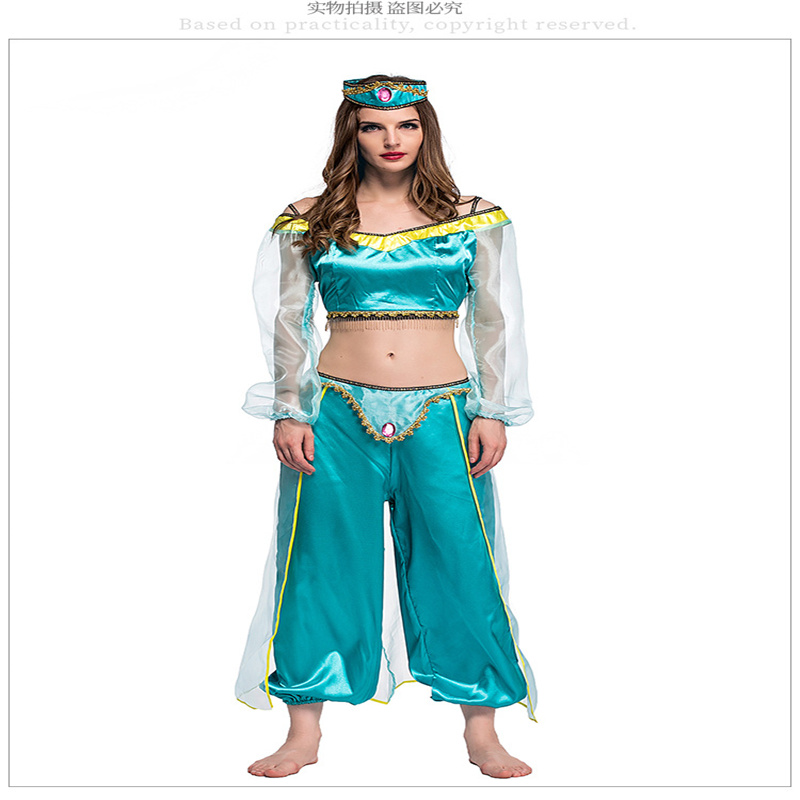 Aladdin and his wonderful lights for movie games anime cosplay suits magic lights for role-playing yoga suits, womens suits