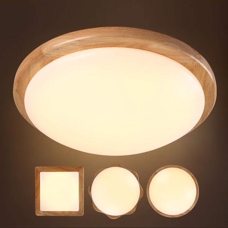 Japanese Style Delicate Crafts Wooden Frame Tatami Led Ceiling Lights Luminarias Para Sala Led Ceiling Lamp 44cm Extremely Efficient In Preserving Heat Lights & Lighting Ceiling Lights