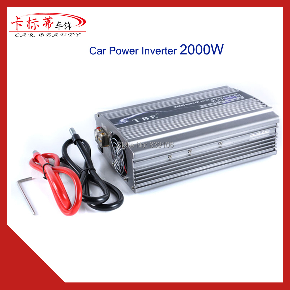 Car Charger 2000W Car Converter Power Inverter DC 12V TO AC 220V Converter Adapter Peak Power 4000W With Cigarette Lighter 4000w peak w 4 usb car power inverter 2000w dc 12v to ac 220v charger converter car led power inverter 4000w dc 12v to ac220v