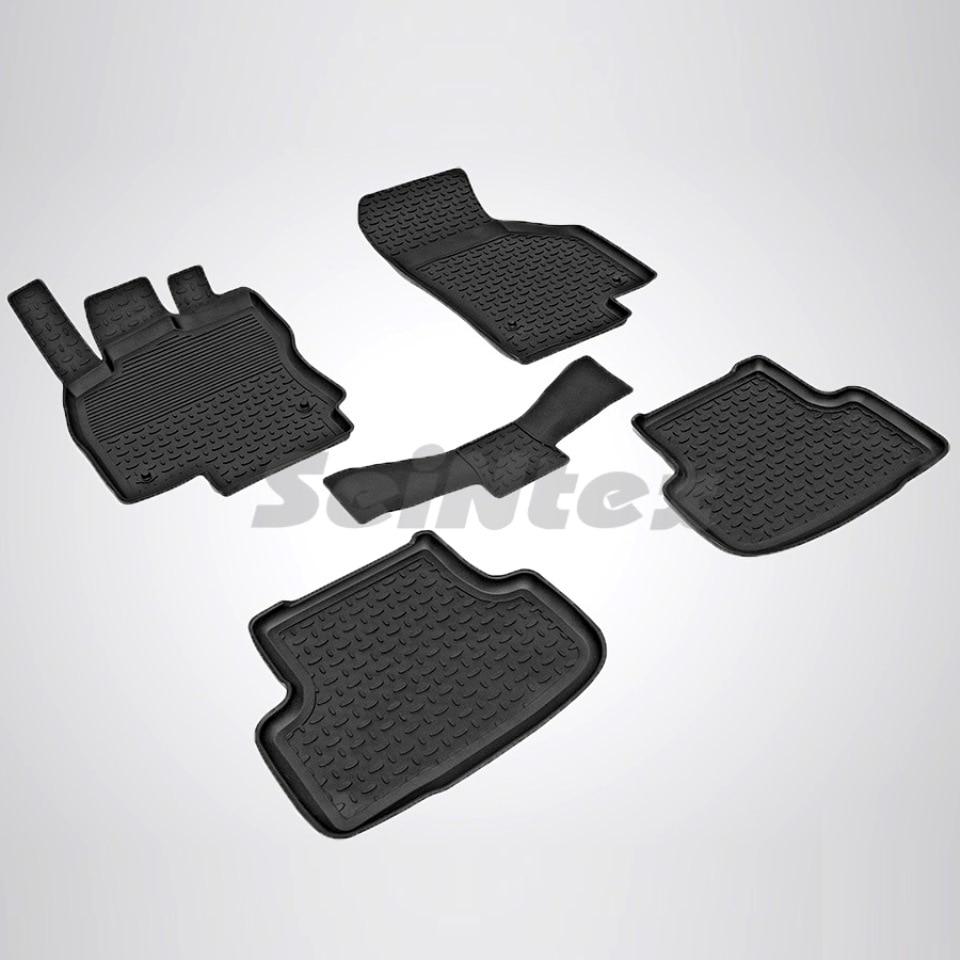 For Skoda Octavia A7 2013-2019 rubber floor mats into saloon 5 pcs/set Seintex 84907 rubber floor mats into saloon for skoda rapid 2013 2019 5 pcs set rival 65102001