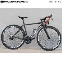 Super Light дороги углерода Complet велосипед углерода дорожный мотоцикл с 5800/R8000 список групп 22 скорость размер 46/48 /51/54 углерода велосипед