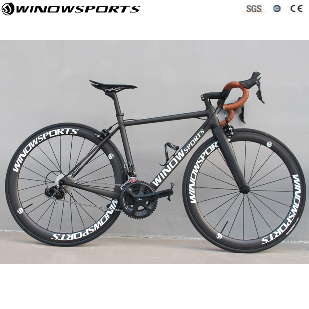 Super Light Carbon Road Complet bike Carbon Road Bike  with 5800/R8000 Groupset 22 speed size 46/48/51/54 carbon bicycle