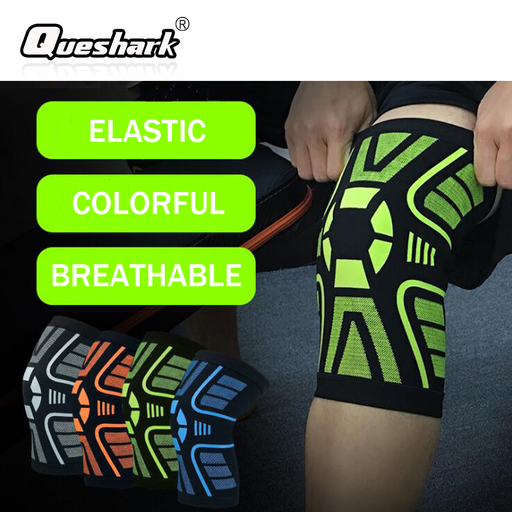 1 Pcs Professional Sports Basketball Kneepad Elastic Anti-slip Knee Brace Support Running Football Weightlifting Knee Protection