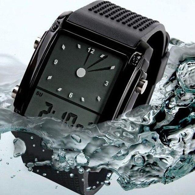 10PCS/lot Boys Sport Watches LED Quartz Alarm Date Waterproof Digital Wristwatch