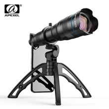 APEXEL HD 36x telephoto zoom lens monocular+selfie tripod for iPhone Samsung other smartphones Travel Hunting Hiking Sports