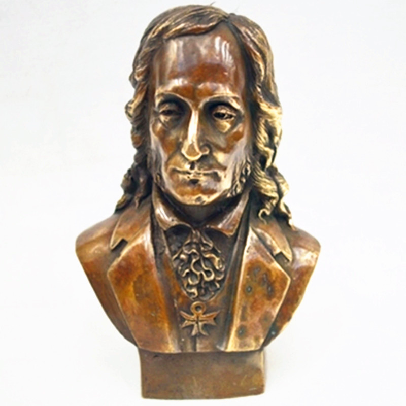 European Style Pianists Musician Ludwig van Beethoven Pure Cupper Sculptures Creative Living Room Furnishing Articles G1554 musician ludwig van beethoven western classical composer chill casting copper head sculpture colophony crafts decoration g1004
