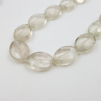 Wholesale Natural Stone Light Lemon Smoky Quartzs Oval Shape Faceted Beads Approx 15x20mm DIY Jewelry