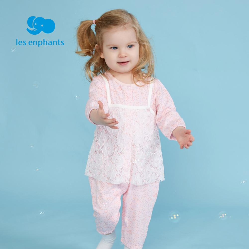 les enphants 2018 Spring Autumn Baby Romper Long Sleeves Baby Clothes Infant Clothes Jumpsuit Baby Girl Romper Baby Clothes Pink mother nest 3sets lot wholesale autumn toddle girl long sleeve baby clothing one piece boys baby pajamas infant clothes rompers