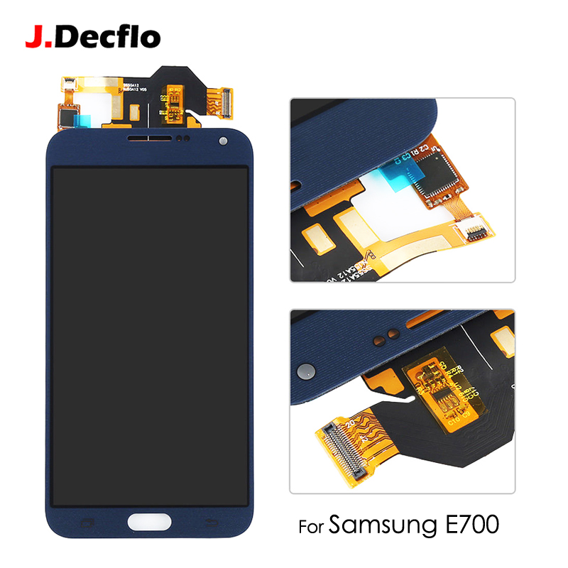 100% Tested Working LCD Display Touch Screen Digitizer Replacement Assembly For Samsung Galaxy E7 E700 E7000 E700F 5.5 ...