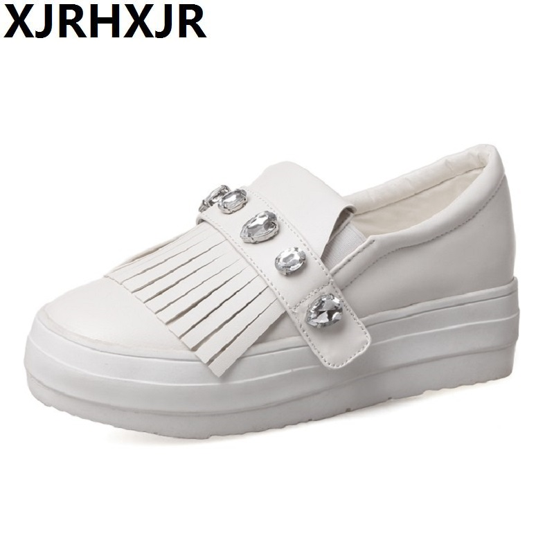 Single Shoes female flat bottom big size shoes 40-43 small white shoes casual shoes Women Platform Loafers 34 43 big small size new 2016 summer fashion casual shoes moccasins bottom shoe platform flat for women s loafers ladies