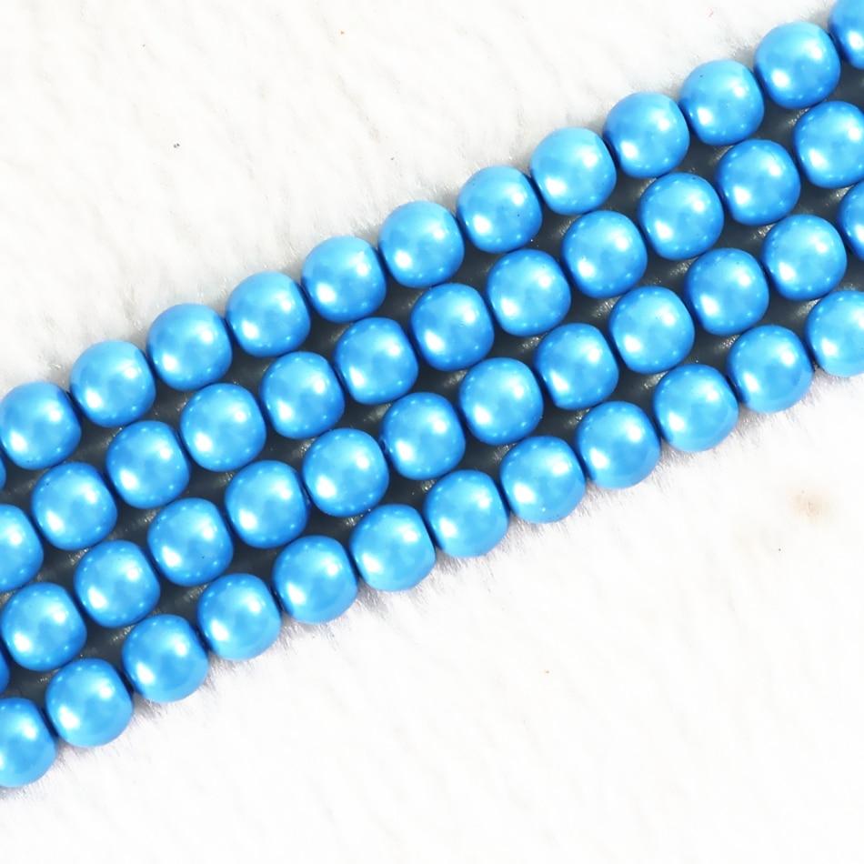 Φ_ΦSpecial sky blue magnetic hematite stone 6mm 8mm 10mm round loose ...