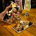 Pedra preciosa pulseira case para iphone 7 6 kisscase 6 s mais luxo espelho borla brilho casos de cristal para iphone 6 6 s 7 fino Capa