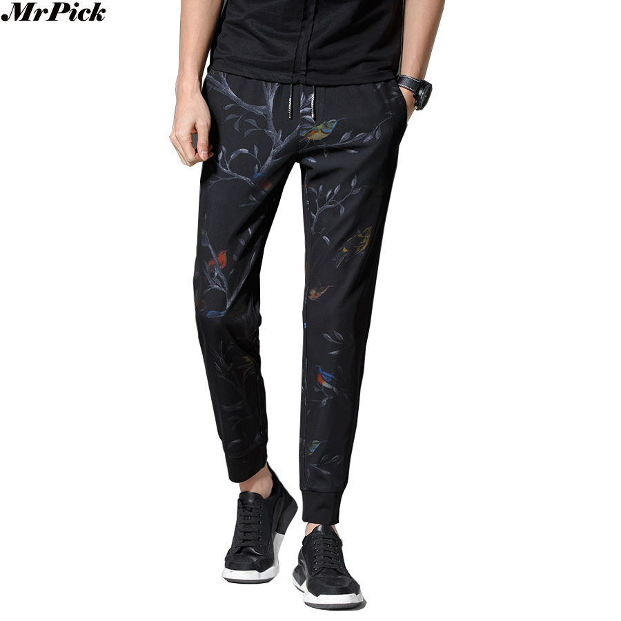 2017 Men Jogger Pants Ankle Length Fashion Casual Design Elastic Pants Good Quality V70709
