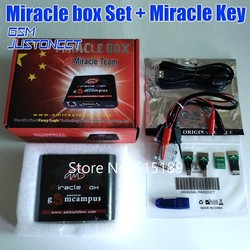 Original New Miracle box + Miracle key with cables for china mobile phones Unlock+Repairing unlock