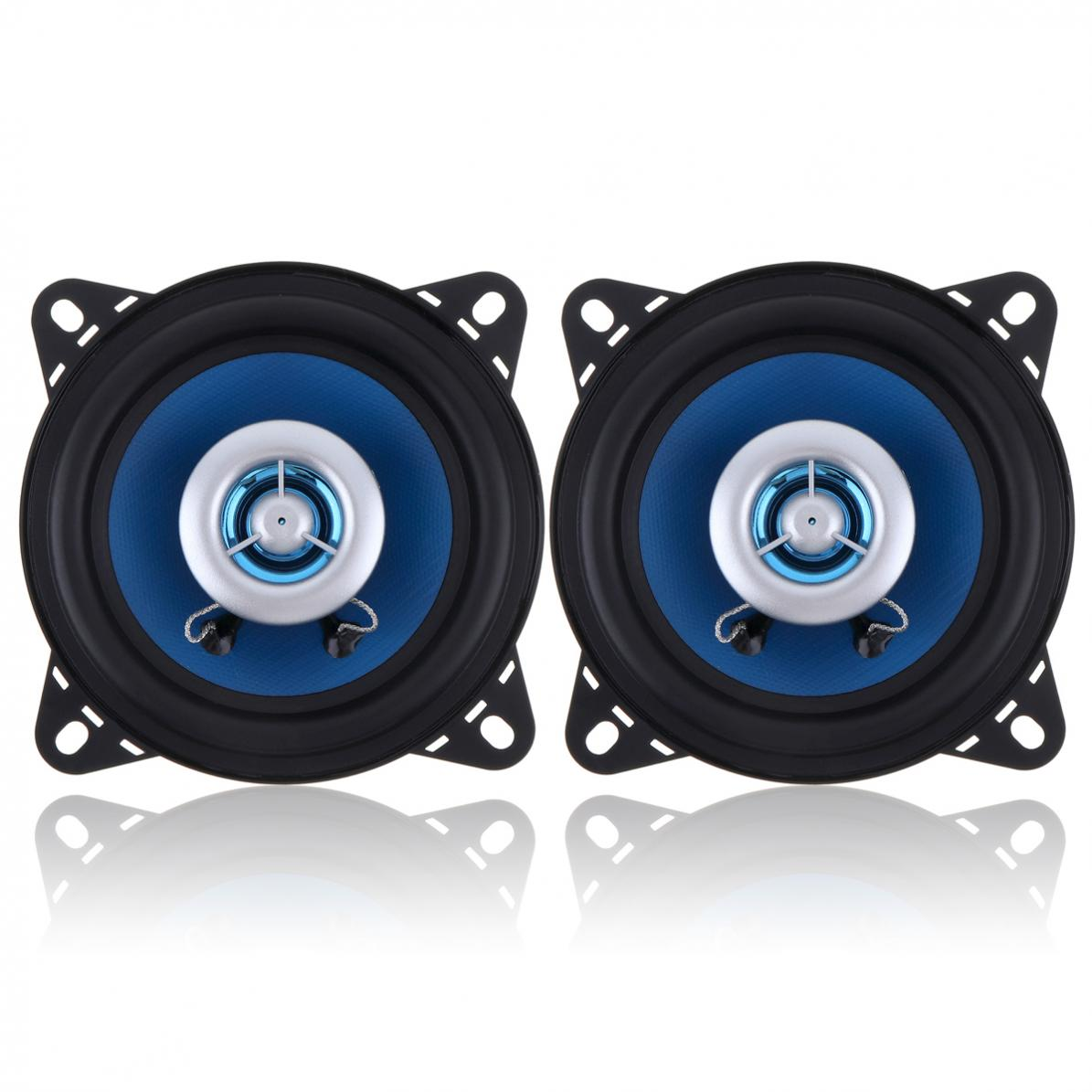 2pcs 4 Inch 80W High-End Car Coaxial Speakers 2-Way