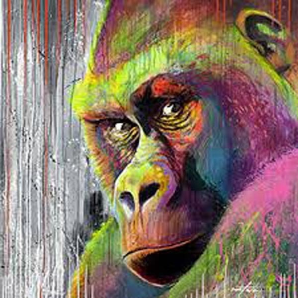 5D Diy Diamond Drawing font b Animal b font Orangutan Diamond Cross Stitch Crystal Painting Christmas
