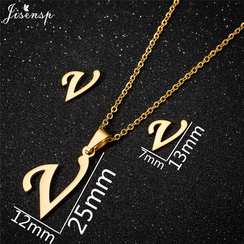 Jisensp Personalized A-Z Letter Alphabet Pendant Necklace Gold Chain Initial Necklaces Charms for Women Jewelry Dropshipping 44