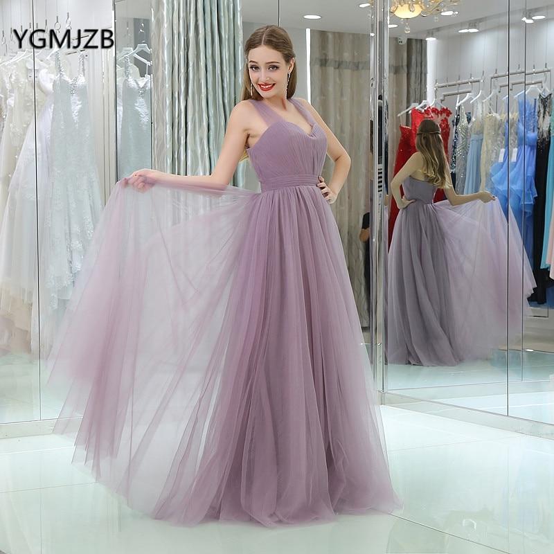 Elegant Long   Evening     Dresses   2018 A-Line Sweetheart with Straps Floor Length Simple Tulle Prom   Evening   Gowns Vestido De Festa