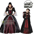 Juego de Halloween Disfraces para La Madre de la Muchacha Cosplay Vestido de Princesa Traje Victoriano Edwardian Mediveal Vestidos de Lujo