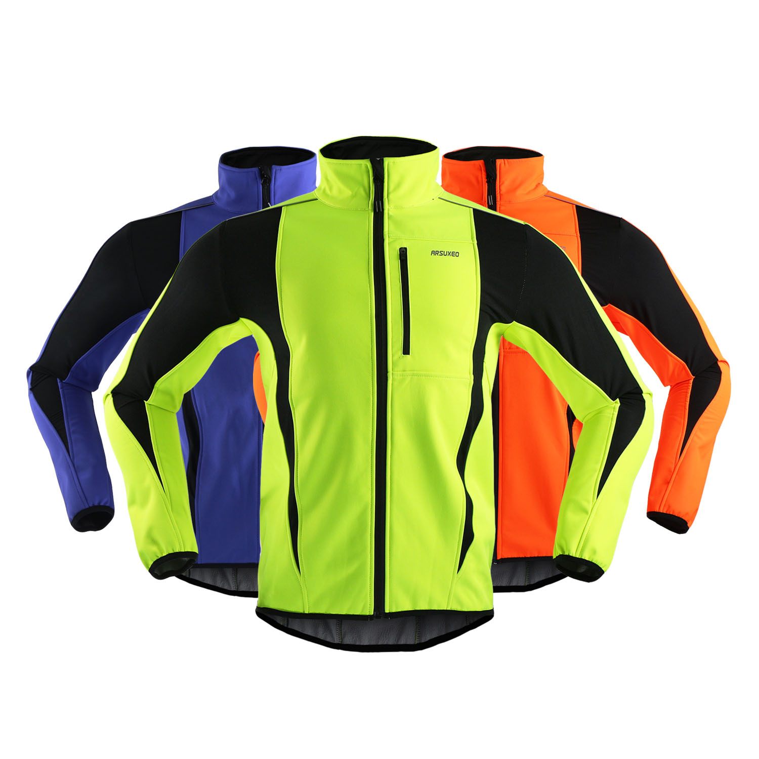 Arsuxeo Winter Windbreaker Waterproof Thermal Fleece Men's Cycling Jacket Reflective Coat MTB Outdoor Sports Bike Jacket Clothes 2015 arsuxeo mtb 1202