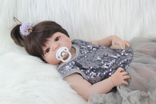 Full Silicone Body Reborn Baby Doll Toys Realistic 22 inch  Newborn Girl Babies Dolls For Kid Fashion Birthday Present Bathe Toy