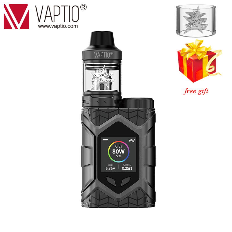 Gift Vape Kit 80W Vaptio Wall Crawler Electronic Cigarette vaporizer 5.0ML atomizer Firmware Upgradeable TCR 1.3 inch Screen