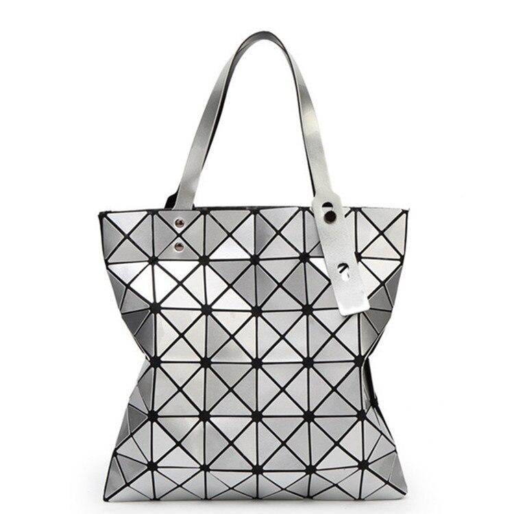 Shoulder-Bag Geometric Pvc-Bags Variety Folding