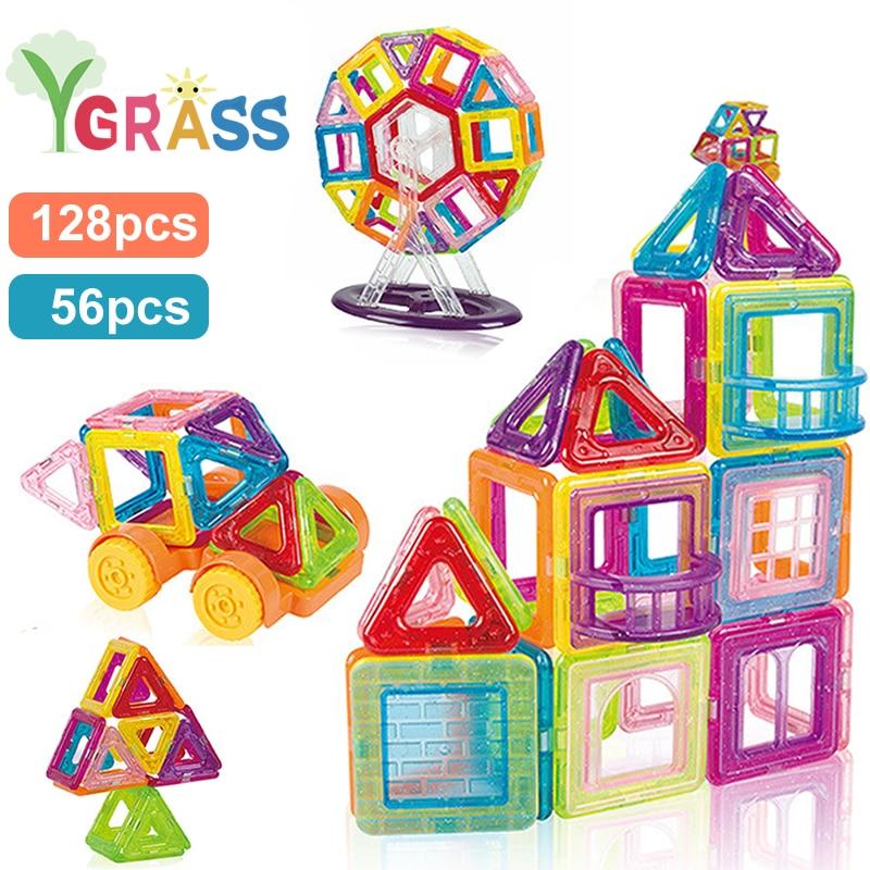 Magnetic Blocks Constructor Toys For Kids Mini Building Magnet Games Children's Designer Educational Toy For Boys Girls Gift