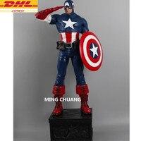 Статуя Мстители Бесконечная война супергероя бюст Капитан Америка полный Длина портрет Смола фигурку Коллекционная модель игрушки