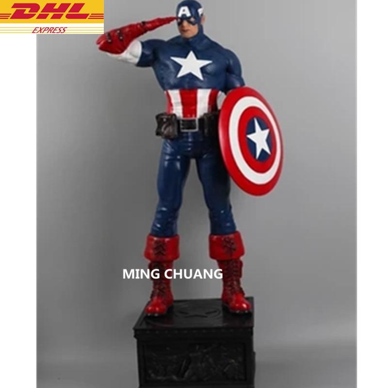 Statua Avengers Infinity Guerra Superhero Busto Captain America Full-Length Ritratto Resina Action Figure Da Collezione Model Toy