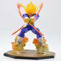 Venta al por menor Al Por Mayor de Anime Dragon Ball Z Super Saiyan Vegeta Batalla Estado Final de Flash PVC Figura de Acción de Colección Modelo de Juguete 15 CM